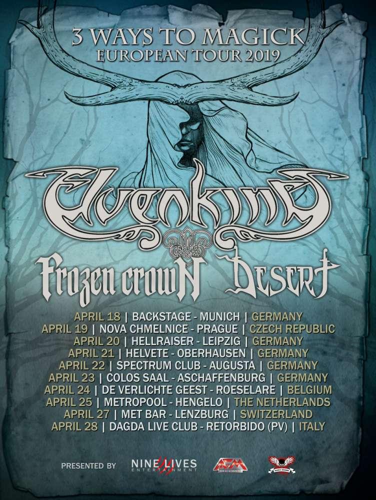 Elvenking 3 ways to Magick tour