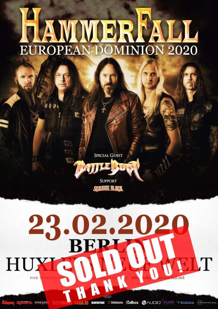 Hammerfall - SOLD OUT!